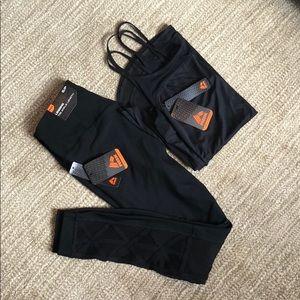 Black Athleisure Set - Mesh Leggings + Tank - NWT!